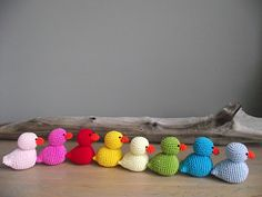 Crochet Ducks--made many of these for Easter baskets----they are very well received and....NO CAVITIES are formed by these cute lil creatures!