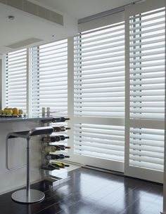 Shutters on sliding tracks are ideal for large glazed areas or room dividers. Custom designed and manufactured for contemporary urban living. Renovations, Custom Design, Room Divider, Sliding Shutters, Contemporary, Home Decor, Room, Sliding Tracks, Urban Living