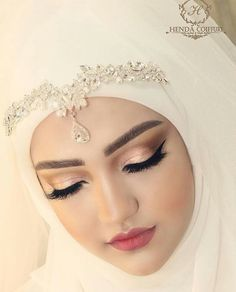 Pinterest @adarkurdish Muslim Wedding Gown, Muslimah Wedding Dress, Muslim Wedding Dresses, Muslim Brides, Bridal Wedding Dresses, Wedding Veils, Wedding Hijab Styles, Beautiful Hijab, Mode Hijab