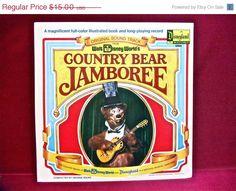 JANUARY CLEARANCE WALT Disney World'S - Country Bear Jamboree...Original Soundtrack - 1972 Vintage Vinyl GATEfold Record Album...w/illustra