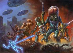 "Box art for the upcoming ""Mars Attacks: Occupation"" trading cards set from Topps."