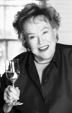 "Julia Child once attributed her longevity to ""red meat and gin,"" and when asked what her favorite wine was, she was quoted as saying: ""Gin."" Drink a gin martini, then plan and plate up a three-course meal saluting some of Julia's original recipes.  Start with the Salad Nicoise, master Moules à la Marinière, and finish with Cherry Clafouti. Bon Appetit    ! ! !"