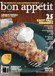 October 2010 Table of Contents - Bon Appétit