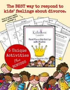 Divorce and kids repin this now to remind yourself a new tool the best way to respond to kids feelings about divorce 5 unique activities solutioingenieria Image collections