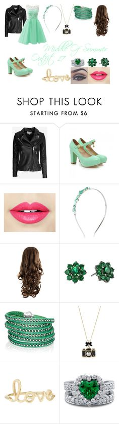 """Middle Of Summer,Outfit 17"" by adely-avendano ❤ liked on Polyvore featuring beauty, IRO, Charming Kicks, Fiebiger, Bellezza, Nina, Sif Jakobs Jewellery, Betsey Johnson, Sydney Evan and BERRICLE"