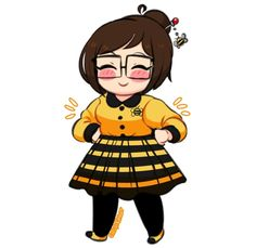 BeeutifulDoodle because I thought Mei-bee she would look cute in some bee themed clothes c:
