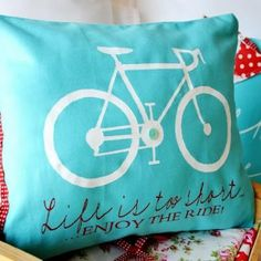 Inspirational Pillows- I love accent pillows! And teal! this would look perrttyy in my living room!!!