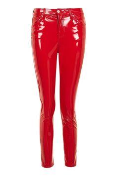 MOTO Red Vinyl Jamie Jeans - New In This Week - New In - Topshop Europe