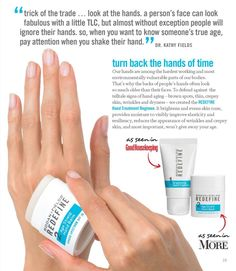 Rodan and Fields Hand Regimen. It visibly brightens, diminishes visible redness and reduces the appearance of brown spots, wrinkles and thin, crepey skin.