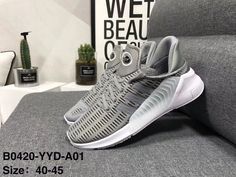f6ebd0d726496 adidas climacool 2018 NEW ARRIVAL SHOES POPULAR RUNNING MENS SHOES GREY  WHITE