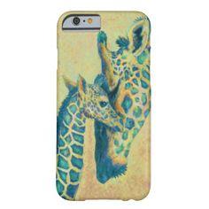 teal giraffes iPhone 6 case
