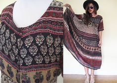Vintage 70's gauze tribal gypsy native pleated by RebelCloset, $79.99