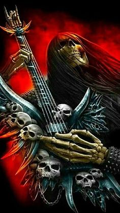 Skull Pictures, Creepy Pictures, Scary Art, Weird Art, Dark Fantasy Art, Fantasy Artwork, Arte Heavy Metal, Iron Maiden Posters, Skull Art