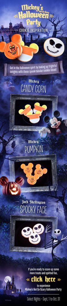 Mickey's #NotSoScary Halloween Party cookie inspiration! #DIY #waltdisneyworld