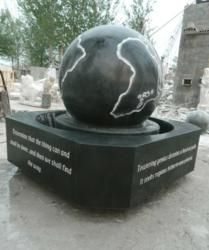 Top Stone Announces Shipment of Another 4 Foot Rolling Sphere Fountain with World Etching. Lincoln Memorial University Fountain Being Delivered to Tennessee University.