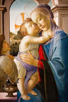 Sandro Botticelli - Virgin and Child with an Angel - at Art Institute of Chicago, by Thomas Hawk