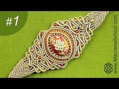 How to: Macramé Bracelet with Grooved Stone #1 - YouTube
