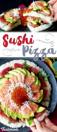 It's packed with tuna, salmon and avocado — you know you're a sushi lover when you enjoy it by the slice.