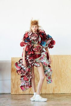 Model Molly Bair is styled by Robbie Spencer in fashion artistry from Comme des Garcons. Roe Ethridge flashes the eccentric beauty in which Molly channels Marie Antoinette as a samurai warrior for Dazed Magazine's 25th Anniversary issue. / Hair by Tomo Jidai; makeup by Kanako TakaseComme des Garcons. Roe Ethridge flashes the eccentric beauty in which Molly channels Marie Antoinette as a samurai warrior for Dazed Magazine's 25th Anniversary issue. / Hair by Tomo Jidai; makeup by Kanako Takase