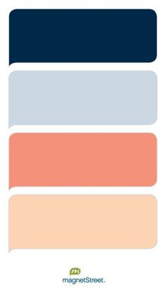 color scheme for peach, pale blue, navy, and gold - Google Search