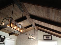 Stained Wood Beam Ceiling by http://www.7pointconstruction.com/