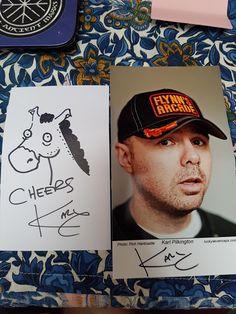 #karlpilkington original sketch signed Karl Pilkington, Postcard Size, How To Raise Money, Sketch, Baseball Cards, The Originals, Sketch Drawing, Sketches, Tekenen