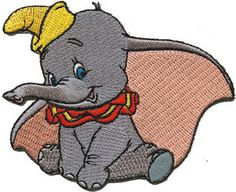 Disney Dumbo Elephant Embroidered Iron On Movie Patch