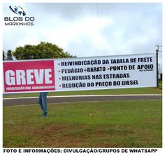 BLOG DO MARKINHOS: Caminhoneiros de Manoel Ribas e Pitanga começam gr...