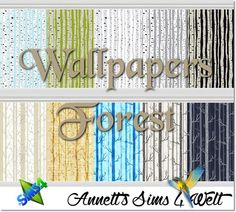 Forest wallpapers at Annett's Sims 4 Welt via Sims 4 Updates