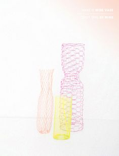 MAKE IT / 5 | D E S I G N L O V E F E S T  Sprayed chicken wire sculptures! Awesome!