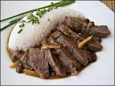 Telecí líčka v ovocné marinádě Beef, Food, Meat, Essen, Meals, Yemek, Eten, Steak