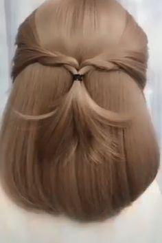 elegant hairstyles For Work - Elegant Hairstyle Easy Hairstyles For Medium Hair, Work Hairstyles, Creative Hairstyles, Medium Hair Styles, Short Hair Styles, Easy Elegant Hairstyles, Waitress Hairstyles, Updo Hairstyles Tutorials, Headband Hairstyles
