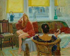 David P. Hettinger American Artist ~ Girl Talk