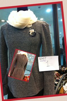 2012 F/W jessica's proposal Exit1: homespun blouse with back zipper ; This outfit express a sophiscated urban style.