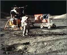Apollo 17 on the moon