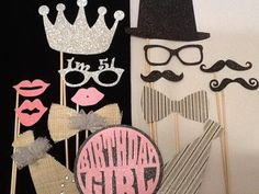 Items similar to Adult Birthday Party Props Props for Birthday Photo Booth Tutu and Mustache Party on Etsy Birthday Themes For Adults, Birthday Decorations For Men, Moms 50th Birthday, Adult Party Themes, Adult Birthday Party, 30th Birthday Parties, Birthday Crafts, Birthday Woman, Birthday Party Themes