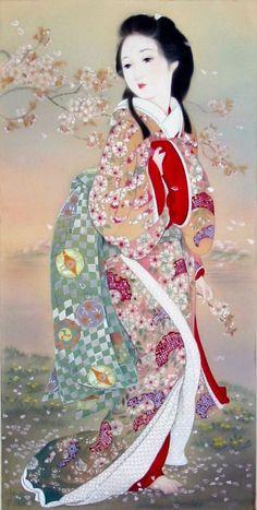 historic japanese painting of kimono - Bing Images