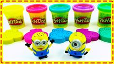 Learn Colors Play Doh Fun Baby Dinosaur Rainbow Peppa Pig Compilation Nu...