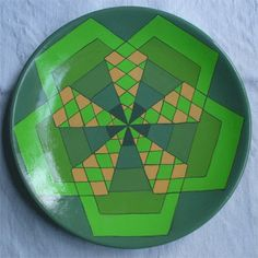 ornamental plate hand painted. Digital composition. Stile geometrico. Caleidoscopio. 26€. CLICK THE IMAGE TO KNOW MORE