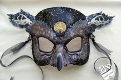 Greek Hades Owl Leather Mask by B3leatherdesigns on Etsy