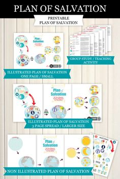 Amazing printable Plan of Salvation!  Contains 41 illustrated essential doctrines!  So many ideas to use with toddlers to teenagers (or adults like me).