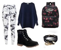 Untitled #9 by silverstars101 on Polyvore featuring Paisie, Varley, Timberland, Vans and ASOS