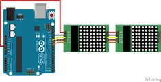 How to use a MAX7219 LED dot matrix with an Arduino – Brainy-Bits