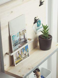 DIY-Anleitung: Minimalistisches Schlüsselbrett selber bauen / craft your own key board for your hallway, diy inspiration via DaWanda.com