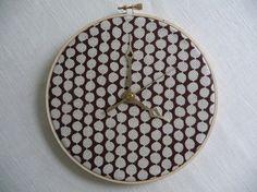 Fabric Embroidery Hoop clock