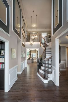 48 Best House Interior Design to Transfrom Your House - Home & DIY Dream Home Design, Modern House Design, Home Interior Design, My Dream Home, Interior Ideas, Beautiful Houses Interior, Beautiful Homes, Foyer Decorating, Interior Decorating