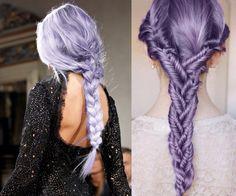 Cute Purple fishtail braids