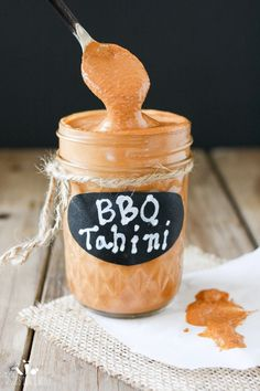 Barbecue plus tahini equals pure delicious ecstasy! The versatility of this sauce is amazing and so is the flavor. It& your next must have condiment! Dip Recipes, Whole Food Recipes, Vegan Recipes, Cooking Recipes, Vegan Foods, Vegan Meals, Vegan Lunches, Raw Vegan, Vegan Vegetarian
