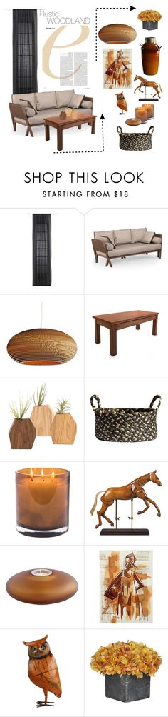 """""""Rustic. Woodland. Decor."""" by theartbug-home on Polyvore featuring interior, interiors, interior design, home, home decor, interior decorating, CB2, Graypants, NOVICA and Laura Mercier"""