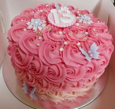 pink ombre rose cake